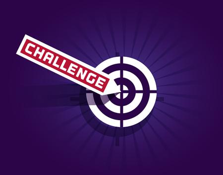 Motivation Quote Challenge Vettoriali