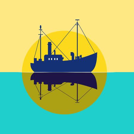 Fishing vessel icon