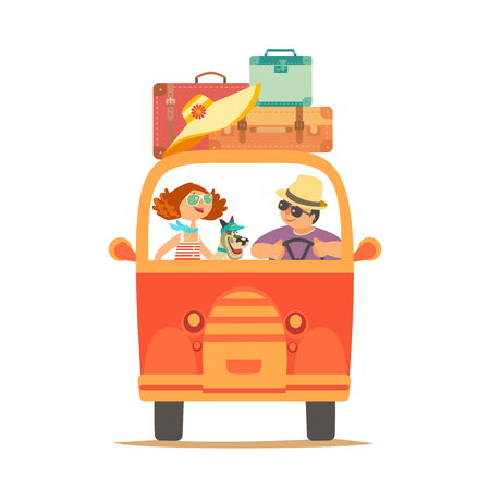 Travelling by car icon isolated on plain background
