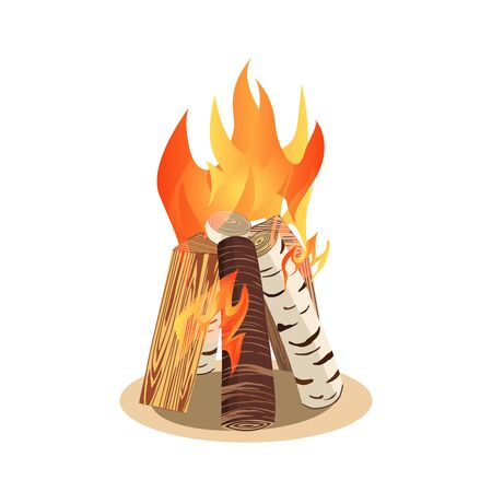Bonfire icon isolated Vector illustration.