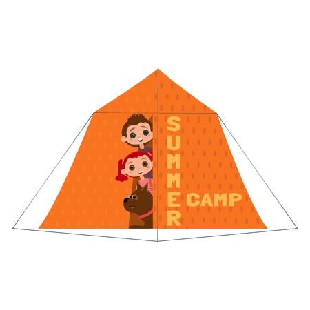 Summer camp icon Illustration