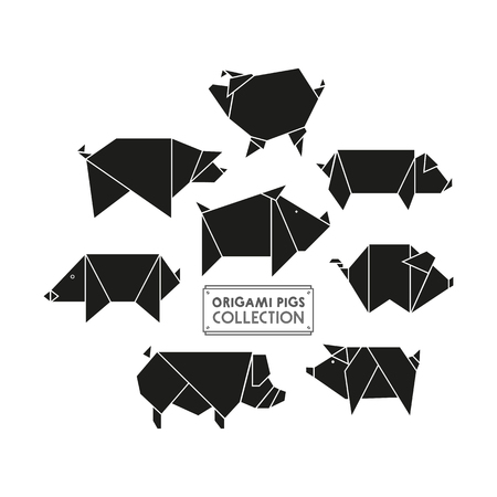 Origami pigs collection