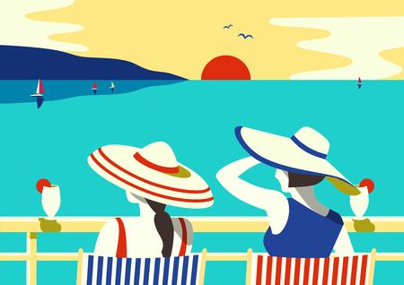 Summer seaside relax poster