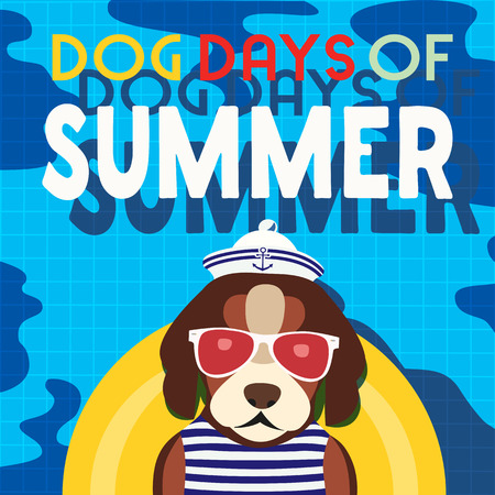 Dogs days of Summer typography vector poster
