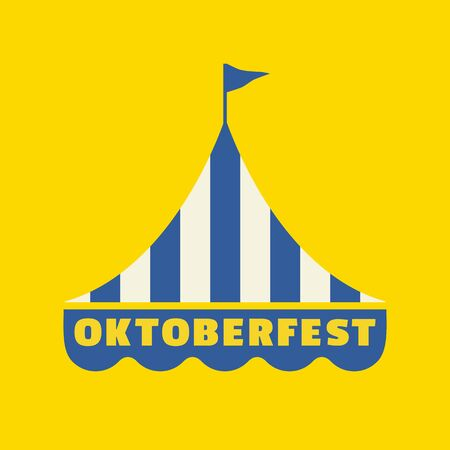 Hand drawn Oktoberfest flat color vector icon 向量圖像