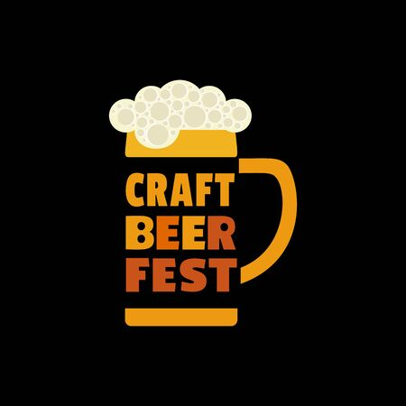 Craft Beer Festival hand drawn flat color vector icon 写真素材 - 128151708
