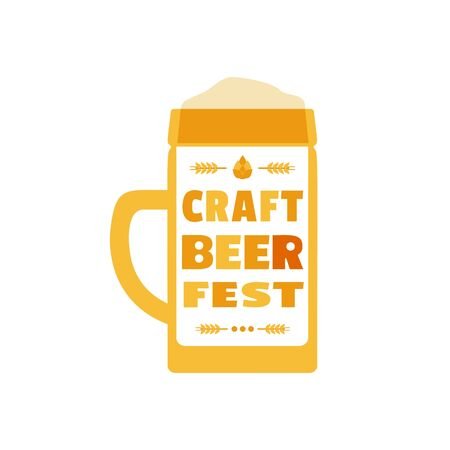 Craft Beer Festival hand drawn flat color vector icon
