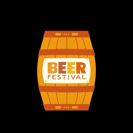 Craft Beer Festival hand drawn flat color vector icon 写真素材 - 128151736