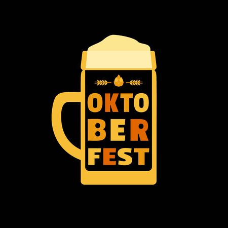 Oktoberfest hand drawn flat color vector icon