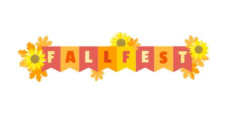 Hand drawn Fall fest tent simple flat color vector icon 写真素材 - 130160988