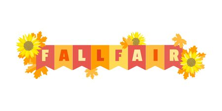 Hand drawn Fall Fair flat color vector headline 写真素材 - 130160992