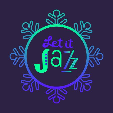 Jazz fest hand drawn neon color music vector icon Ilustracja