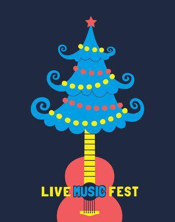 Music fest poster template  イラスト・ベクター素材