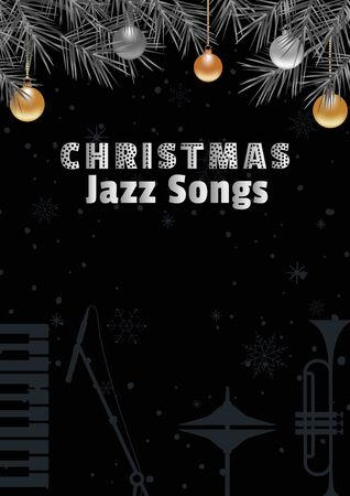 Template Design Poster Christmas Jazz vector