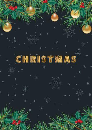 Template Design Poster Christmas Festival vector