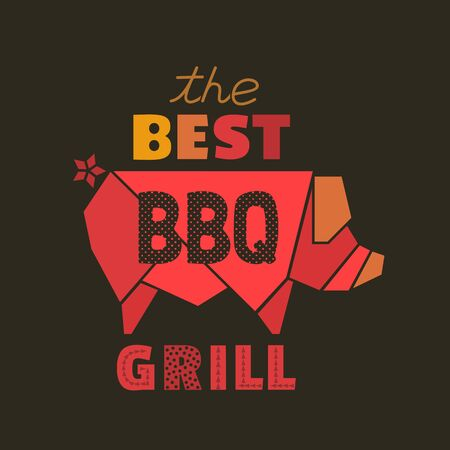 Best BBQ grill flat hand drawn vector icon