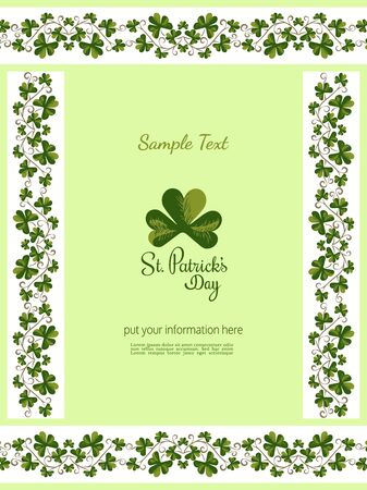 St Patricks day decorated banner vector template Ilustrace
