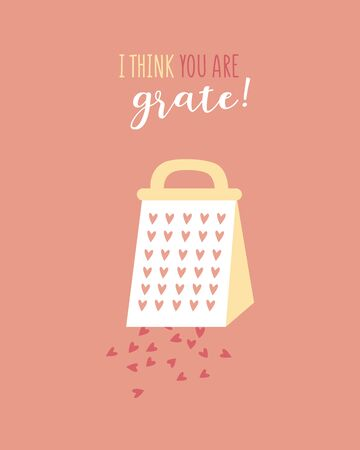 Funny holiday typography poster. Valentines day cute romance vector greeting card. Sweet heart, grater sign cartoon. Love inspired printable Valentines. Romantic loved phrase illustration background