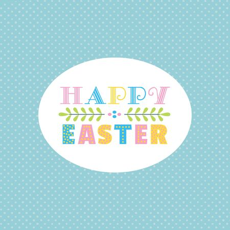 Happy Easter fancy hand drawn letters isolated
