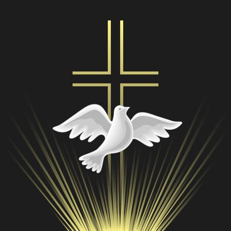 Pentecost Sunday Holy Spirit vector icon