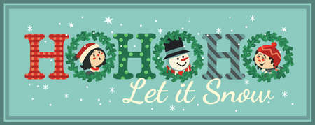 Hand drawn Christmas flat color vector decoration