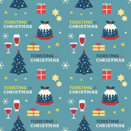 Christmas Fancy Party Celebration seamless pattern