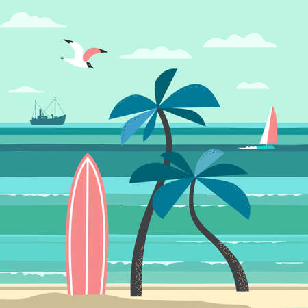 Nostalgic Hawaiian Tropical Vacation vector poster