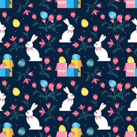 Cute Easter Bunny Seasonal Decorative Pattern