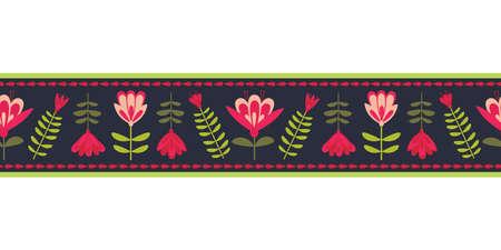 Seasonal Decorative seamless pattern vector border