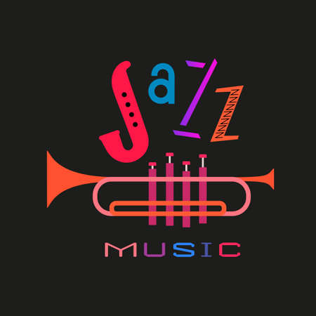 International Jazz Music Day colorful fancy icon 向量圖像