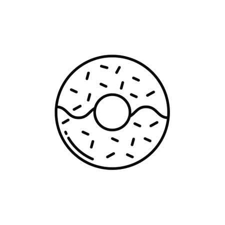 Doughnut icon vector image. Can also be used for food and drinks. Suitable for use on web apps, mobile apps and print media.