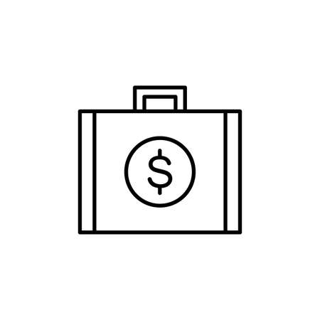 Business investment, money, profit, money bag  icon vector image. Can also be used for business & office. Suitable for use on web apps, mobile apps and print media.