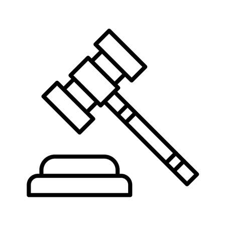 Law, auction, gavel icon vector image. Can also be used for business & office. Suitable for use on web apps, mobile apps and print media.