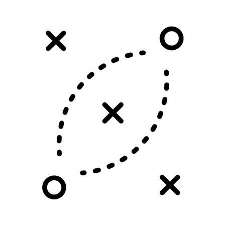 Strategy, direction, plan icon vector image. Can also be used for cyber security. Suitable for use on web apps, mobile apps and print media. Vektorgrafik