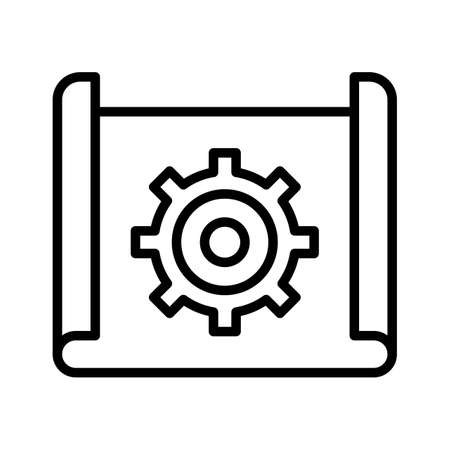 Planning, implementation, workflow icon vector image. Can also be used for cyber security. Suitable for use on web apps, mobile apps and print media.