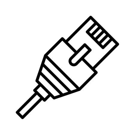 Internet, cable, wire, connection icon vector image. Can also be used for network & data sharing. Suitable for use on web apps, mobile apps and print media. 矢量图像