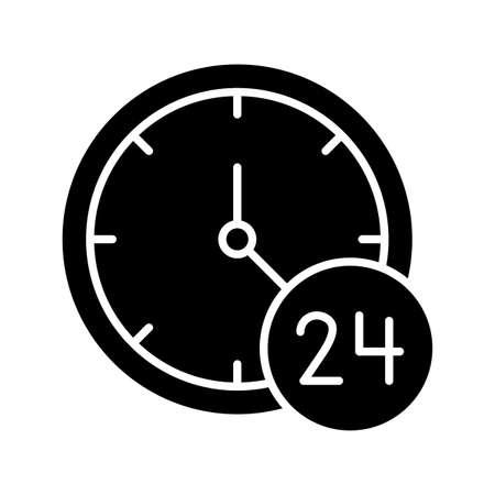 Availability, time, whole day icon vector image. Can also be used for customer support. Suitable for use on web apps, mobile apps and print media.