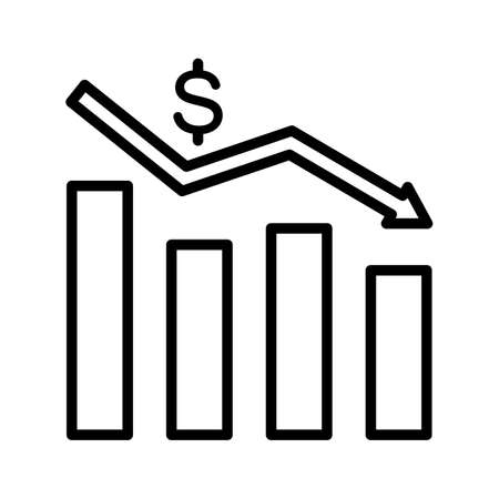 Finance, loss, money icon vector image. Can also be used for Finance and Money. Suitable for use on web apps, mobile apps and print media.