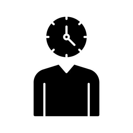 Time management, worker, shift icon vector image. Can also be used for customer support. Suitable for use on web apps, mobile apps and print media.