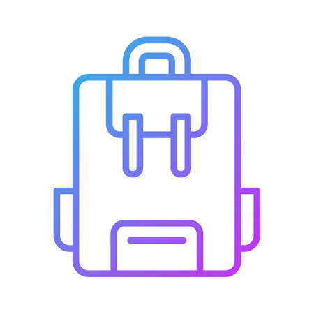 School Bag icon vector image. Can also be used for education. Suitable for use on web apps, mobile apps and print media.