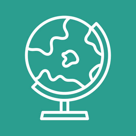 Globe icon vector image. Can also be used for education. Suitable for use on web apps, mobile apps and print media.