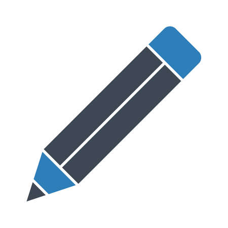 Pencil, write, edit icon vector image. Can also be used for education. Suitable for use on web apps, mobile apps and print media.