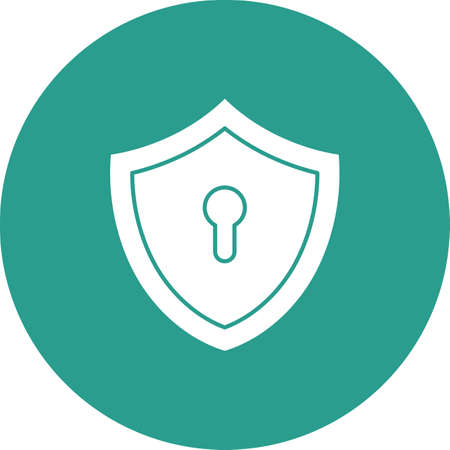 Lock, shield, security icon vector image. Can also be used for internet security. Suitable for use on web apps, mobile apps and print media.