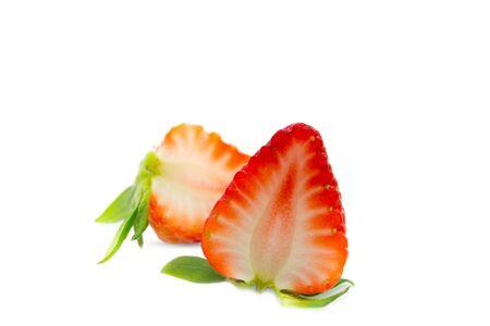 indulgence: Strawberry on white background