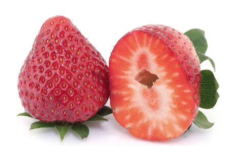 exempted: Strawberry on white background