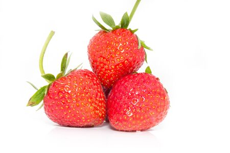 considerate: Strawberry on white background