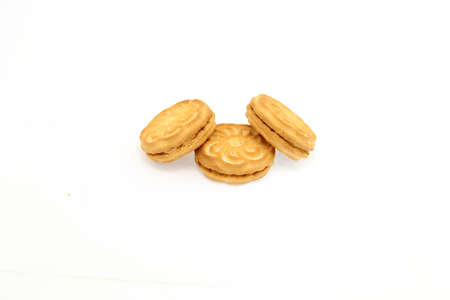 shortbread: Biscuits on a white background Stock Photo