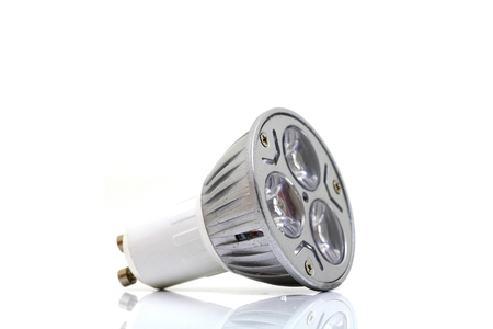 exempted: LED Bulb on white background