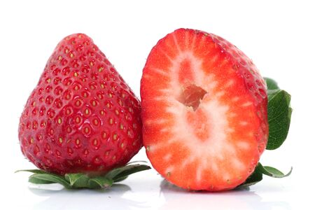 exempted: Starwberry on white background Stock Photo