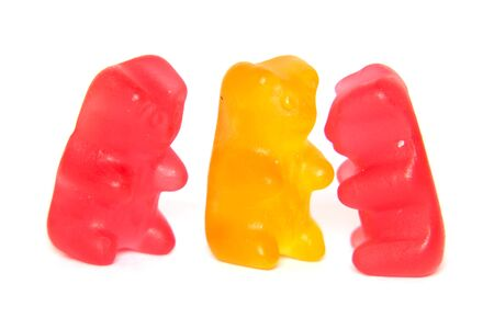 gummy: Colored gummy bears isolated